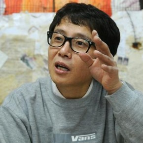 Portrait of a North Korean propagandist turned protest artist